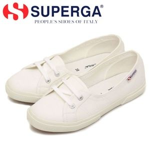 Superga Orchestra Low Top White Sneakers
